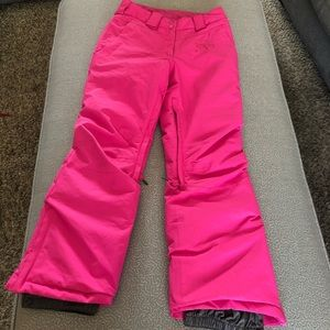 Firefly Pink Tabea Insulated Snow Ski Pants: M